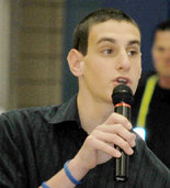 Justin Bachman,  Solon High School sophomore, and inspiration for the Tolerance Fair, March 10  at the I-X Center in Cleveland.  Photo courtesy of The Plain Dealer.