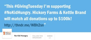 Support No Kid Hungry #GvingTuesday 2015 ThunderClap